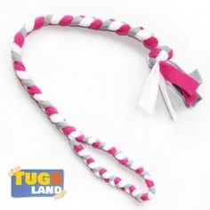 Tug jouet pour chien gris blanc rose 60 cm 2 cm
