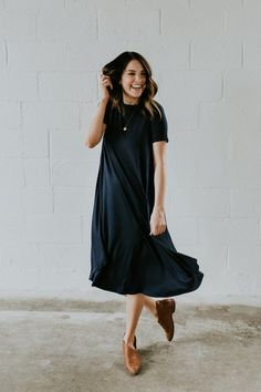 You'd Never Know This Was Nursing Friendly | Swing Dress with Hidden Zippers by ROOLEE Mom