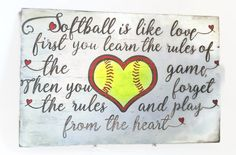 Hand Painted Softball Sign