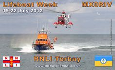 MX0RIV Torbay Lifeboat Week QSL card