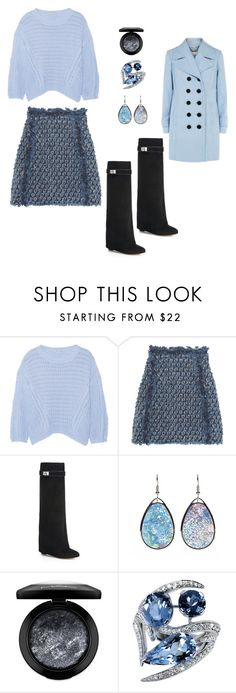 """""""2016 Winter Skirt Day"""" by michelle858 ❤ liked on Polyvore featuring Autumn Cashmere, Sonia Rykiel, Givenchy, MAC Cosmetics, Shaun Leane, Winter, coldweather, winterstyle, pulloversweaters and Winter2016"""