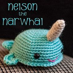 Ravelry: Nelson the Narwhal Amigurumi pattern by Mara Rosenbloom