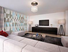 ohpopsi Photo Wallpapers & Ready Made Wall Murals Photo Wallpaper, Wall Wallpaper, Pastel Blue Color, Geometric Wallpaper Murals, Adhesive Wallpaper, Grey Walls, Wall Murals, Blue Grey, Scandinavian