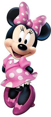"""MINNIE MOUSE BOW-TIQUE 40"""" Giant WALL DECAL Disney Room Stickers Pink Decor"""