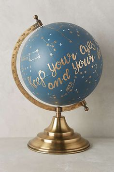 Anthropologie Europe - Handpainted Wanderlust Globe