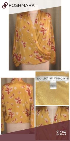 Collective Concepts Print Blouse Pre•loved Collective Concepts Print Blouse  Size Large  Polyester  EUC  3918F Collective Concepts Tops