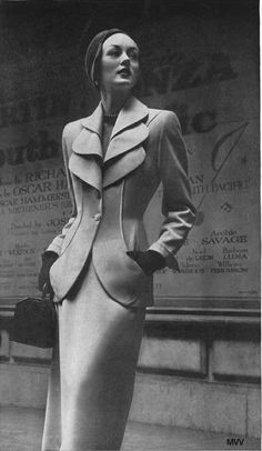 A Classic Lilli Ann Suit - 1950's. If only suits today looked that feminine!