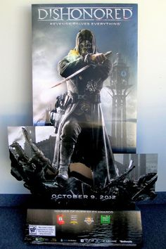 Dishonored Standee (Video Game Store Cardboard Standup Promotional Display, Revenge Solves Everything) Promotion Display, Displays, Revenge, Digital Image, Design Inspiration, Video Game, Canvas, Acl, Movie Posters