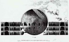 Ledoux & the All-Seeing Eye Neoclassical Architecture, French Architecture, Architecture Drawings, Historical Architecture, Architecture Portfolio, Claude Nicolas Ledoux, Section Drawing, Architectural Section, 18th Century
