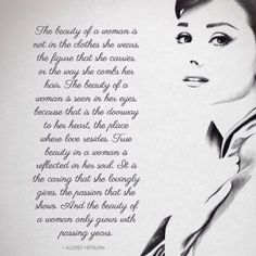 Audrey Hepburn Quote <3