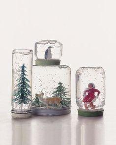hacer-una-Bola-de-Nieve-para-Navidad  tutorial: http://www.manualidadesinfantiles.org/como-hacer-una-bola-de-nieve-para-navidad/