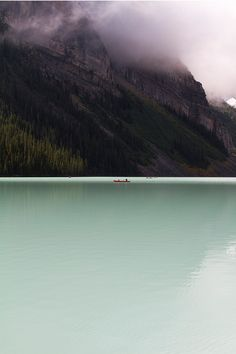 The moving glacial ice constantly grinds away the Lake Louise (Alberta. Canada) bedrock creating silt that causes this beautiful emerald colour. We marvel at the apparent simplicity of nature yet nature is anything but.