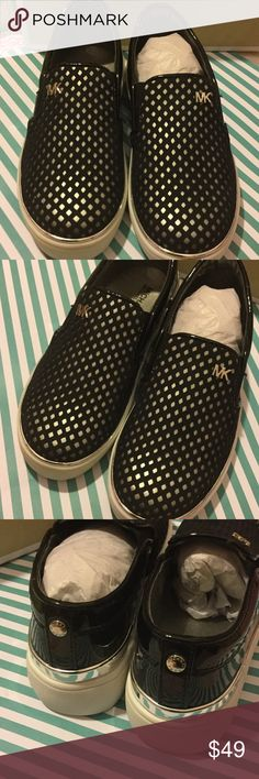 🌺Michael Kors  gorgeous slip on shoes size 13 NWT Michael kors gorgeous black slip on shoes new size 13 NO TRADES 💕🙌🏻👑👧🏻 MICHAEL Michael Kors Shoes
