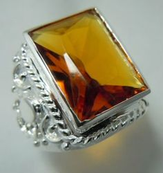 Wholesale and retail sculpture amber stone 925 silver rings(China (Mainland))