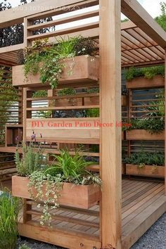 The wooden pergola is a good solution to add beauty to your garden. If you are not ready to spend thousands of dollars for building a cozy pergola then you may devise new strategies of trying out something different so that you can re Diy Garden, Garden Projects, Terrace Design, Terrace Garden Design, Patio Design, Diy Patio, Garden Decor, Pergola Designs, Diy Backyard