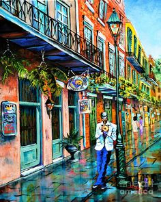 New Orleans Art Painting - Jazzn by Dianne Parks