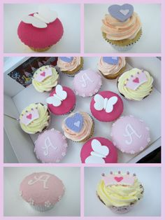 birthday crown and cushion cake and matching cupcakes Little Girl Cakes, Little Girls, Fondant Cakes, Cupcake Cakes, Cupcake Ideas, Crown And Cushion, 1st Birthday Cupcakes, Cake Cover, Cake Designs
