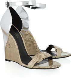 Bottega Veneta Karung and metallic leather sandals