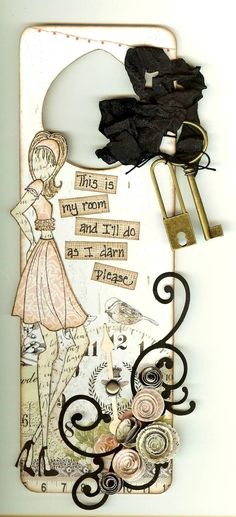 Prima Julie Nutting Doll Stamp door hanger made by Deena at Crackerjacks! Prima Paper Dolls, Prima Doll Stamps, Doorknob Hangers, Arts And Crafts, Diy Crafts, Prima Marketing, Scrapbook Paper Crafts, Stamp Collecting, Making Ideas