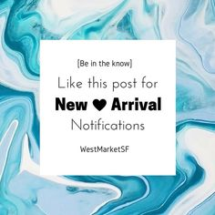 New Arrival Notifications Want to be the first to know when our new items come in?? Like this post and I'll notify you each time we put up a new selection of clothing! WestMarket SF Other