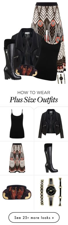 """""""EffortlessEnsembles..."""" by loz-s on Polyvore featuring Temperley London, Zizzi, GUESS, M&Co, Miu Miu and Anne Klein"""