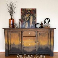SOLD Copper Ombre  Buffet by KatieClementeStudio on     ❤️ #katieclementestudios #art #artist #colorsplash #studio #studioflow #coastal #coastalliving #beach #california #sea #surf #love #weatheredwood #old #buynow #buylocal #painting #charleston #paintedfurniture #new #decor #instagood #bossbabe #table #entrepreneur #everydamnday #distressed #fauxfinish #homedecor #beforeandafter #quote