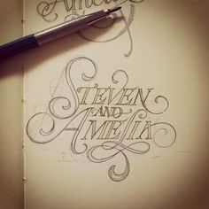 Steven & Amelia - FromUpNorth -- #GraphicDesign #Typog