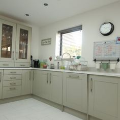 Revisited - Bianco De Lusso - Shefford, Bedfordshire - Rock and Co Granite Ltd Kitchen Cabinets, Wood, Home Decor, Decoration Home, Woodwind Instrument, Room Decor, Cabinets, Timber Wood, Trees