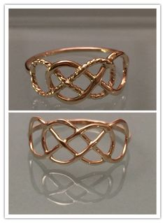 14k Double Infinity Ring by EllynBlueJewelry on Etsy https://www.etsy.com/listing/206775005/14k-double-infinity-ring