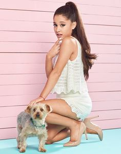 Ariana Grande For Lipsy Crochet Knit Co-ord Top