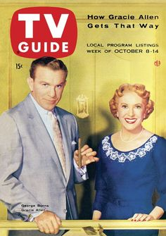 TV Guide, October 8, 1955 - George Burns and Gracie Allen