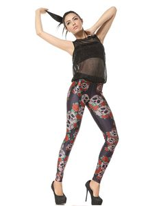 Sugar Skull leggings with roses To fit size 6 8 and spandex Skull Leggings, Black Milk, Sugar Skull, Roses, Punk, Spandex, Sexy, Fitness, Style