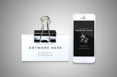 Realistic Business Cards with Iphone MockUp