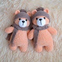 Плюшевые мишки игрушки амигуруми