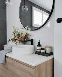 23 Stylish Bathroom Remodeling Ideas Youll Love 2019 Cool 47 Cute But Creative Small Bathroom Décor Ideas. # The post 23 Stylish Bathroom Remodeling Ideas Youll Love 2019 appeared first on Bathroom Diy. Laundry In Bathroom, Master Bathroom, Bathroom Black, Bathroom Modern, Upstairs Bathrooms, Bathroom Inspo, Bathroom Small, Bathroom Trends, Laundry Rooms