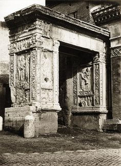 "https://flic.kr/p/pCsura | John Henry Parker (Circle of) - Arch of the Goldsmiths, Rome, ca 1870 | Maker:John Henry Parker (Circle of) Born: UK Active: Italy Medium: albumen print from wet plate negative Size:  9.5"" x 7"" Location: Italy  Publication:   Other Collections:   Notes:   To view our archive organized by themes and subjects, visit: OUR COLLECTIONS   For information about reproducing this image, visit: THE HISTORY OF PHOTOGRAPHY ARCHIVE"