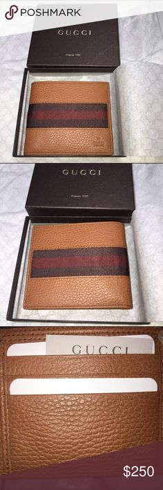 7415bc84f28 Gucci men s wallet Brand new with tags and box Gucci Bags Wallets Gucci  Mens Wallet