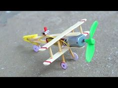 How to make Aeroplane with DC motor - [ wooden plane ] - YouTube