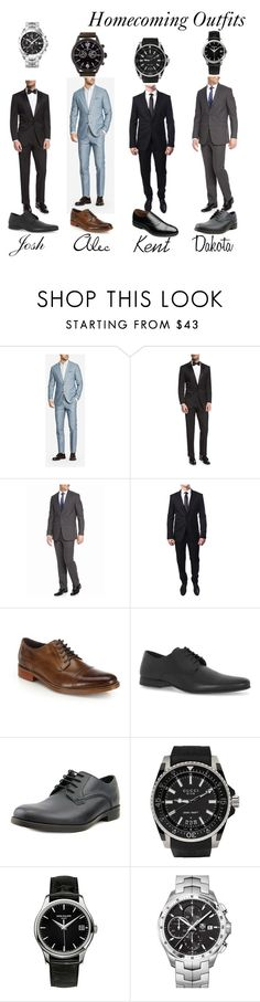 """""""Boys Homecoming Outfits"""" by mirandamellan on Polyvore featuring Bonobos, BOSS Hugo Boss, Kenneth Cole Reaction, Givenchy, Cole Haan, Allen Edmonds, Topman, Clarks, Gucci and Patek Philippe"""