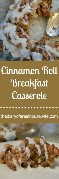 My family just loved this Cinnamon Roll Breakfast Casserole! It's one of my favorite breakfast recipes. It's super easy to make and can even be made the night before. What's For Breakfast, Breakfast Items, Breakfast Dishes, Breakfast Recipes, Morning Breakfast, School Breakfast, Cinnamon Rolls, Cinnamon Recipes, Christmas Morning
