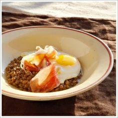 Chef's Recipe | chef Seamus Mullen's recipe for Truffled Lentils and Eggs.