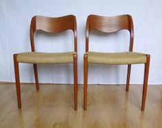 Modell 71 Esszimmerstühle aus Teakholz von Niels von BuashkoGarage