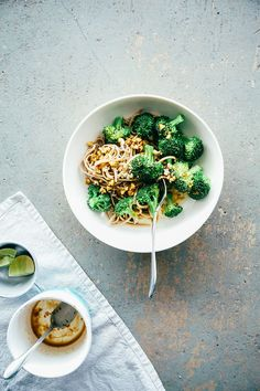 simple, salty, sweet + nutty broccoli soba // @Laura | The First Mess