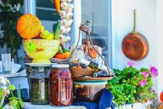 Traditional Greek produce of Santorini