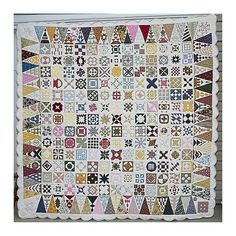 Now for the amazing Dear Jane Quilt.  It was made by Jane Stickle and finished in 1863; it is beyond amazing.  This quilt sets the curve for Civil War reproduction quilting!