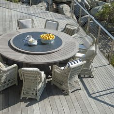 ARBOR DINING TABLE ROUND 239 WITH LAZY SUSAN - JANUS et Cie