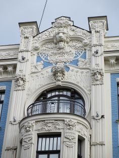 Check our some gorgeous Art Nouveau buildings, such as this one down Albert Street in Riga. [Photo Credit: Paul McClure DC, via Flickr]
