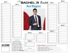 #TheBachelor Bracket & Cheat Sheet: Who Are Ben Higgins' Ladies?