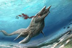 Tylosaurus was a species of Mosasaur. It was enormous, reaching more than 50 feet (15m) in length.