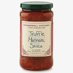 Truffle Marinara Sauce - Try it over pasta or as a sauce for homemade pizza. $10.95 per jar. Find it in our gourmet pasta section.